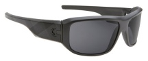 Spy Optic Lacrosse Sunglasses Sunglasses - Matte Black with Plaid / Grey