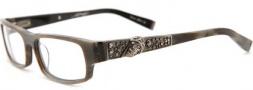 Ed Hardy EHO 701 Eyeglasses Eyeglasses - Dark Horn