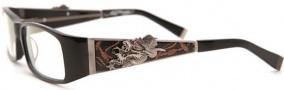 Ed Hardy EHO 704 Eyeglasses Eyeglasses - Black