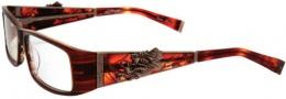 Ed Hardy EHO 704 Eyeglasses Eyeglasses - Hazel
