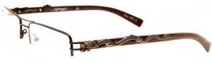 Ed Hardy EHO 707 Eyeglasses Eyeglasses - Cocoa