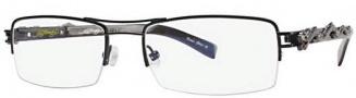 Ed Hardy EHO 707 Eyeglasses Eyeglasses - Ebony