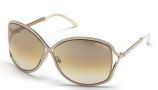 Tom Ford FT 0179 Sunglasses - RICKIE Sunglasses - O28G Shiny Rose Gold / Brown Mirror
