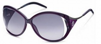 Roberto Cavalli RC573S Sunglasses Sunglasses - O81B Transparent Violet