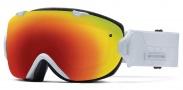 Smith Optics I/OS Snow Goggles Goggles - White Prism / Red Sol-X + Blue Sensor