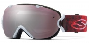Smith Optics I/OS Snow Goggles Goggles - White Floral / Ignitor + Red Sensor