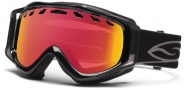 Smith Optics Stance Snow Goggles Goggles - Black / Red Sensor Mirror / Extra RC36 Lens