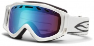 Smith Optics Stance Snow Goggles Goggles - White / Blue Sensor Mirror / Extra RC36 Lens