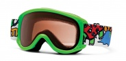 Smith Optics Sundance Kid Junior Snow Goggles Goggles - Neon Green Dinomonsters