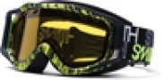 Smith Optics SNOW FUEL V.2 SWEAT-X Snowmobile Goggles Goggles - Black/ Dayglo Good Word-Yellow Dual Airflow AFC Lens