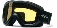 Smith Optics OPTION QUICK STRAP Snowmobile Goggles Goggles - Black-Yellow AFC Dual Airflow Lens
