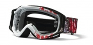 Smith Optics HART & HUNTINGTON FUEL V.2 Moto Goggles Goggles - White/Red Reaper-Clear AFC