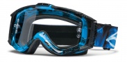 Smith Optics INTAKE SWEAT-X Moto Goggles Goggles - Cyan X-Ray / Clear AFC