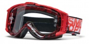 Smith Optics INTAKE SWEAT-X Moto Goggles Goggles - Red - Grey Darksky / Clear AFC