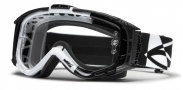 Smith Optics INTAKE SWEAT-X Moto Goggles Goggles - White - Black Offset / Clear AFC