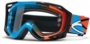 Smith Optics FUEL V.2 SWEAT-X Moto Goggles Goggles - Cyan - Orange Offset / Clear AFC