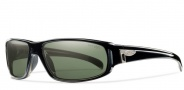Smith Precept Sunglasses Sunglasses - Black / Polarized Green Gray Glass