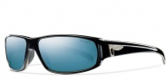 Smith Precept Sunglasses Sunglasses - Black / Polarized Blue Mirror Glass