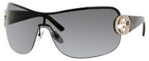 Gucci 2890/S Sunglasses Sunglasses - 0BKS Black Shiny Black (P9 gray lens)