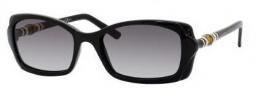 Gucci 3194/S Sunglasses Sunglasses - 0D28 Shiny Black (BD dark gray gradient lens)