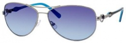 Juicy Couture Decos Sunglasses Sunglasses - 06LB Shiny Ruthenium (TQ turquoise gradient lens)