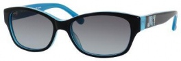 Juicy Couture Mode/S Sunglasses Sunglasses - 0JDM Black Teal (Y7 gray gradient lens)