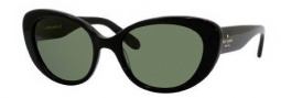 Kate Spade Franca/S Sunglasses Sunglasses - 0807 Black (L2 green lens)