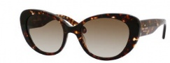 Kate Spade Franca/S Sunglasses Sunglasses - 0JNX Dark Tortoise (Y6 brown gradient lens)