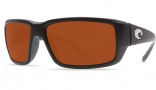 Costa Del Mar Fantail Sunglasses Black Frame Sunglasses - Gray / 580P