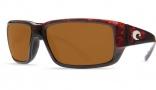 Costa Del Mar Fantail Sunglasses Tortoise Frame Sunglasses - Amber / 400G