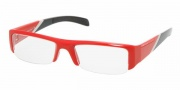 Prada PS 06AV Eyeglasses Eyeglasses - ZYF1O1 RED DEMO LENS
