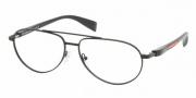 Prada PS 53BV Eyeglasses Eyeglasses - 1BO1O1 MATTE BLACK DEMO LENS