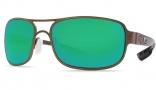 Costa Del Mar Grand Isle Sunglasses - Gold Frame Sunglasses - Green Mirror Glass / Costa 580