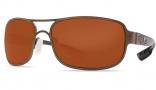 Costa Del Mar Grand Isle Sunglasses - Gold Frame Sunglasses - Copper Poly. / Costa 580