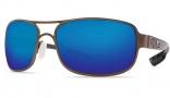 Costa Del Mar Grand Isle Sunglasses - Gold Frame Sunglasses - Blue Mirror Glass / Costa 580