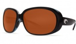 Costa Del Mar Hammock Sunglasses - Black Frame Sunglasses - Green Mirror / 580G