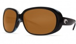 Costa Del Mar Hammock Sunglasses - Black Frame Sunglasses - Amber / 400G