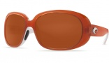 Costa Del Mar Hammock Sunglasses Salmon/White Frame Sunglasses - Gray / 580P