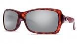 Costa Del Mar Islamorada Sunglasses - Tortoise Frame Sunglasses - Blue Mirror Glass / Costa 580