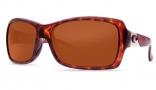 Costa Del Mar Islamorada Sunglasses - Tortoise Frame Sunglasses - Silver Mirror Glass / Costa 580