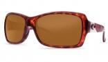 Costa Del Mar Islamorada Sunglasses - Tortoise Frame Sunglasses - Green Mirror Glass / Costa 400