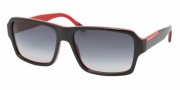 Prada PS 05LS Sunglasses Sunglasses - 7I63M1 TOP BLACK/FIRE GRAY GRADIENT