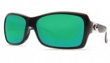 Costa Del Mar Islamorada Sunglasses - Black Frame Sunglasses - Amber Poly. / Costa 580