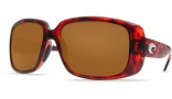 Costa Del Mar Little Harbor Sunglasses - Tortoise Frame Sunglasses - Amber Glass / Costa 400