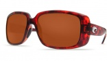 Costa Del Mar Little Harbor Sunglasses - Tortoise Frame Sunglasses - Gray Poly. / Costa 580