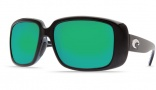 Costa Del Mar Little Harbor Sunglasses - Black Frame Sunglasses - Copper Poly. / Costa 580