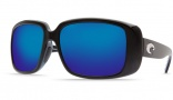 Costa Del Mar Little Harbor Sunglasses - Black Frame Sunglasses - Amber Poly. / Costa 580