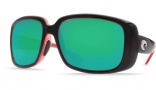 Costa Del Mar Little Harbor Sunglasses Black/Coral Frame Sunglasses - Copper Poly. / Costa 580