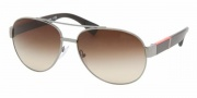 Prada PS 52MS Sunglasses Sunglasses - 5AV6S1 GUNMETAL BROWN GRADIENT