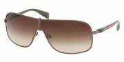 Prada PS 54LS Sunglasses Sunglasses - 7JO6S1 MILITARY BROWN GRADIENT